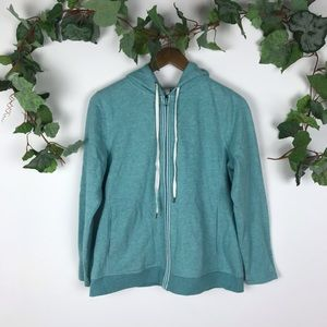 T by Talbots Teal Zip Up Jacket